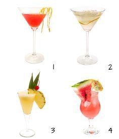 Cócteles para fiestas de verano, en www.fiestafacil.com / Summer party cocktails, in www.fiestafacil.com