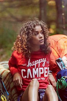 Jasmine Sanders is one of my role models. I like this picture because of the nature scene and her candid pose.