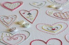 Sweet Hearts hand embroidery pattern