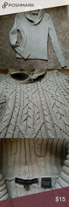 Jeanne Pierre sage green knit sweater jumper small **Knit sweater. Sage green in color. Close knit, warm sweater** jeanne pierre Sweaters