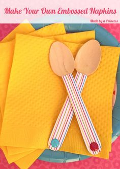 Make Your Own Embossed Napkins!