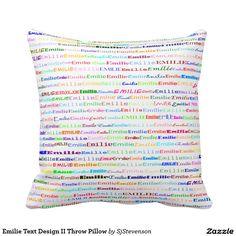 Emilie Text Design II Throw Pillow