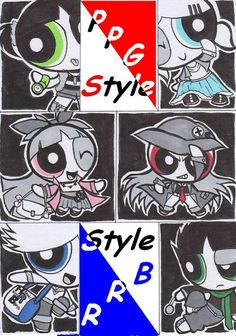ppg buttercup and butch and brute   PPG and RRB Style