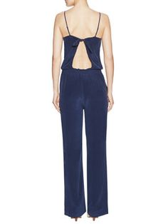 d4863a7ddee Lundy Silk Tie Back Jumpsuit by Joie at Gilt