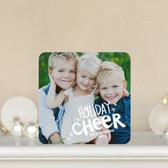 Cheerful Days - #Holiday Photo Cards feature a bold white font.
