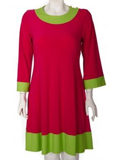 Mod Bod Dress in Raspberry/Lime