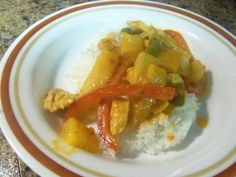 This is a quick, easy, and authentic Thai curry dish thats sweet and spicy. It goes together quickly for a weeknight dinner.