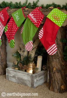 Build your own Fireplace for Stockings - super simple tutorial
