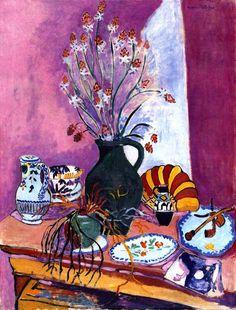 "dappledwithshadow: "" Still Life with Asphodels, Henri Matisse 1907 """