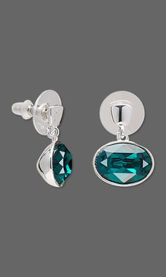 Earring Designs - We'll understand if you think the earwires for these Swarovski crystal pearl bead earrings resemble Asian conical hats.   #jewelrydesignidea #jewelrymaking #FireMountainDesigns #earrings #Swarovskicrystal