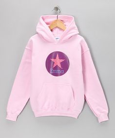 Take a look at this Light Pink Star Personalized Hoodie - Kids by Lima Bean Kids on #zulily today!