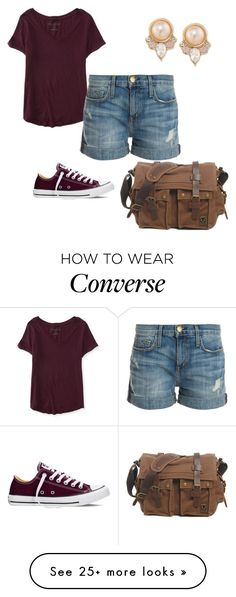 """""""Can't be Girly all Day"""" by momo-free on Polyvore featuring Carolee, Aéropostale, Current/Elliott, Converse, women's clothing, women, female, woman, misses and juniors"""