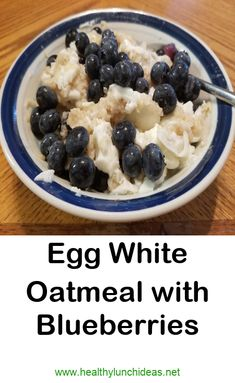 Egg White Oatmeal with Blueberries See the full recipe, including nutrition info breakdown and Explore relevant healthy meal ideas that will help you lose weight, meal prep and just stay healthy everyday in an easy way Egg White Recipes, Healthy Egg Recipes, Blueberry Recipes, Oatmeal With Egg Whites, Vegetarian Eggs, Vegetarian Recipes, Recipe Steps, Blueberries, Delish