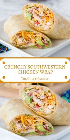 CRUNCHY SOUTHWESTERN CHICKEN WRAP - Best Top Recipe