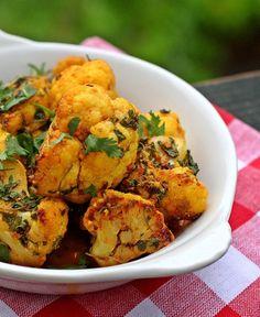 Coliflor con fenogreco y jengibre | #Receta de cocina | #Vegana - Vegetariana ecoagricultor.com