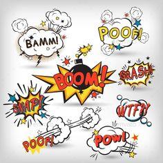 Comic speech bubbles in pop art style with bomb cartoon explosion splach powl sn. Comic speech bubbles in pop art style with bomb cartoon explosion splach powl snap boom poof text set vector illustr Comic Boom, Comic Text, Graffiti Tattoo, Graffiti Lettering, Graffiti Art, Explosion Drawing, Comic Sound Effects, Pop Art Tattoos, Tattoo Art