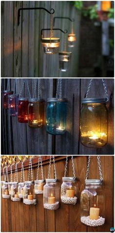 Backyard Garden Fence Decoration Makeover DIY Ideas DIY Hanging Mason Jar Lights Fence Fence Makeover Ideas The post Backyard Garden Fence Decoration Makeover DIY Ideas appeared first on Garden Ideas. Hanging Mason Jar Lights, Mason Jar Lighting, Diy Hanging, Hanging Lanterns, Hanging Plants On Fence, Patio Lanterns, Small Lanterns, Jar Lanterns, Hanging Ornaments