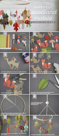 Create A Simple Papercut Woodland Baby Mobile