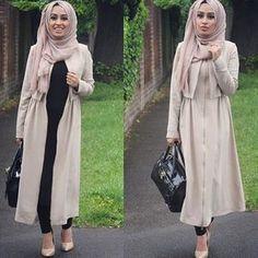 Image in my Hijab fashion collection by Modest Fashion Hijab, Casual Hijab Outfit, Hijab Chic, Abaya Fashion, Fashion Mode, Fashion Outfits, Stylish Hijab, Hijab Wear, Islamic Fashion
