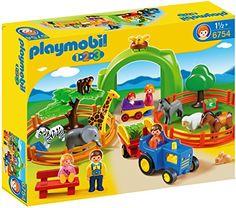 Jeu de construction - Coffret Grand zoo 1.2.3 Playmobil - 18M+