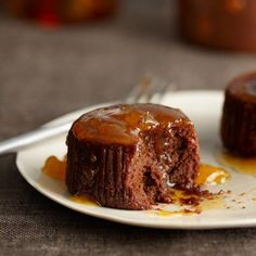 Warm Chocolate Cakes with Apricot-Cognac Sauce | Pair these cakes with a dried-fruit-and-caramel-scented tawny port: Taylor Fladgate 10-Year Reserve.
