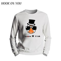 2017 New Hot Men Clothes Funny Sunglasses Duck Printing Round Collar Hoodies Casual Man Outerwear O-Neck Sweatshirts Chic Tops #Affiliate