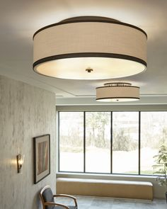 For Limited Ceiling Height Or When You D Like An Obstructed View Consider Installing Oversized Flush Mount Such As This Fixture From The Marteau