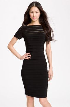 Adrianna Papell Illusion Bodice Pleated Jersey Sheath Dress available at #Nordstrom