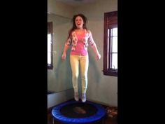 Jump-out the toxins (Rebounding for lymph drainage).