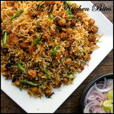 MM's Kitchen Bites: Chana Biryani/ Chickpeas Biryani. Easy and simple one pot meal made with chickpeas and rice. Awesome taste and flavor.