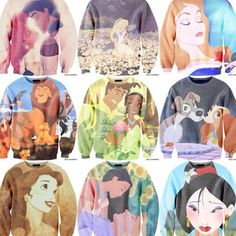 The Lady and the Tramp, Little Mermaid, and Beauty and the Beast are my favorites! I HAVE TO HAVE THEM.