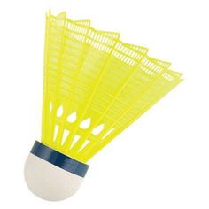 MacGregor Yellow Tournament Badminton Shuttlecock - Tube of 6 - MSBIRDYL, Durable
