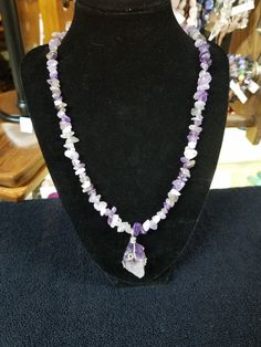 If you like amethyst, you'll love this new necklace!  Only 25.00!