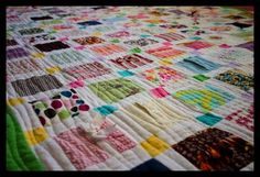 Baby clothes quilt. Pick yoru favorite baby outfits and make a sweet rememberance quilt for momma or baby