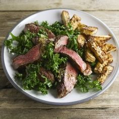 Hemsley and Hemsley's steak with celeriac chips. For the full recipe, click the picture or visit RedOnline.co.uk