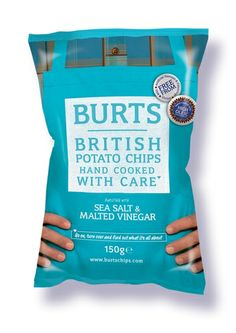 Burts Sea Salt & Malted Vinegar Potato Chips