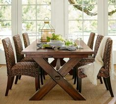 Pottery Barn Seagrass chairs