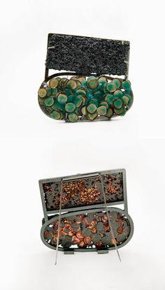 The Art Escape Plan: new enamel! Jewelry Crafts, Jewelry Art, Jewelry Design, Geek Jewelry, Designer Jewelry, Jewelry Necklaces, Artisan Jewelry, Handmade Jewelry, Unique Jewelry