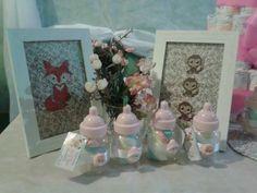 Baby - Raposa e macaquinhos em composição para decoração chá de fralda