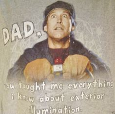 National Lampoon Christmas Vacation Dad Lights T-Shirt Large Boy Girl Chevy