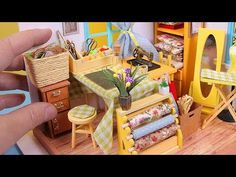 DIY Miniature Dollhouse Room for a Tailor - YouTube