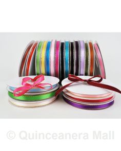 "Quinceanera Mall - 3/8 "" Satin Ribbon - 50 yards #RIB22"