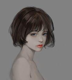 Ideas art drawings girl face for 2019 Digital Art Girl, Digital Portrait, Portrait Art, Anime Art Girl, Manga Art, Art Sketches, Art Drawings, Stil Inspiration, Wie Zeichnet Man Manga