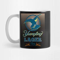 Yuengling Lager - Beer Logo - Mug Logo Mugs, Lager Beer, Dark Colors, Brewery, Drinking, Dots, Tableware, Pennsylvania, Community