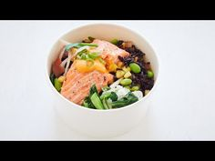 How To Make Pineapple Black Fried Rice Bowl With Pan-Fried Salmon   FIELDTRIP Restaurant - YouTube Salmon Recipes, Fish Recipes, Asian Recipes, Ethnic Recipes, Noodle Recipes, Entree Recipes, Chef Recipes, Cooking Recipes, Yummy Recipes