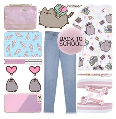 """""""stay cute with #PVxPusheen"""" by foundlostme ❤ liked on Polyvore featuring Mavi, Casetify, Accessorize, Pusheen, Mini Cream, RGB, BackToSchool, denim, contestentry and PVxPusheen"""