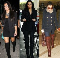 Knee high boots! Kim K my style icon!