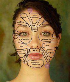 Yüzünüzden Vücudunuzun Hangi Bölgesi Hastalıklı Öğrenin Bilge Cafe - Bilginin Eğlenceli Adresi Massage Techniques, Detox, Healthy Lifestyle, Halloween Face Makeup, Health Fitness, Glasses, Tattoo, Hair, Massage