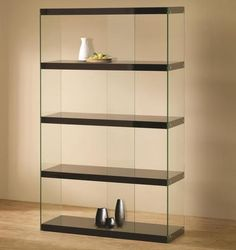 Shop the Illusion Bookcase at Eurway Modern Furniture - cool contemporary furniture at great prices including modern shelving Black Display Cabinet, Display Cabinet Lighting, Display Cabinets, Glass Cabinets, Curio Cabinets, Shop Cabinets, Wall Cabinets, Trophy Cabinets, Shelving Display