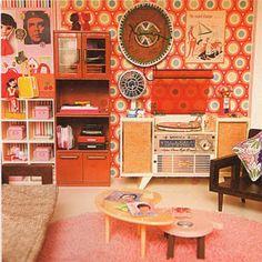 Retro dollhouses!!